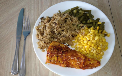 Barbeque Salmon with Brown Sugar and Mustard