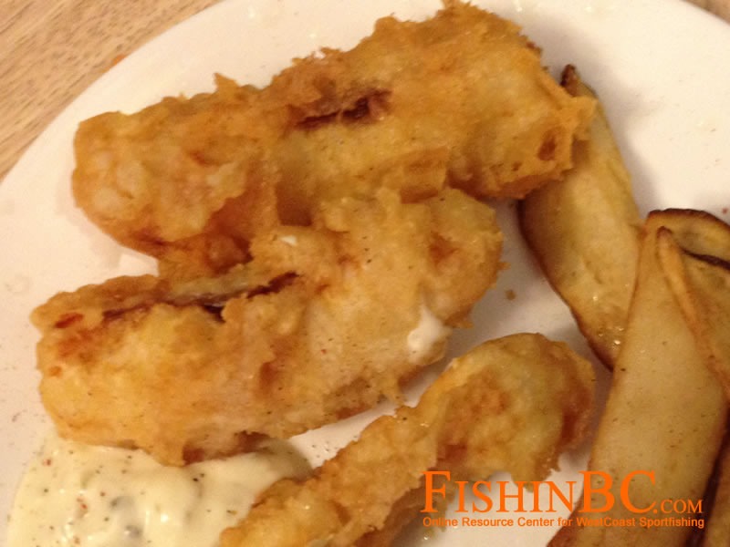Beer batter fish and chips with lingcod or halibut for Fish and beer
